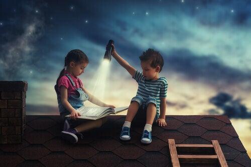 Lecture pour enfants sur les toits
