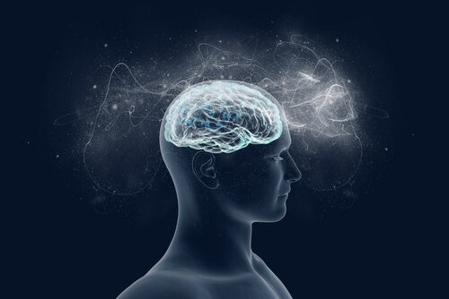 Cerveau éclairant l'esprit d'une personne représentant la façon d'entraîner le cerveau à être heureux