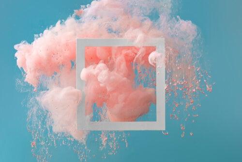 Image avec fumée rose
